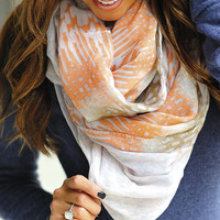 Window Pane Scarf: Light Blue/Multi | Hope's