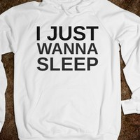 Supermarket: I Just Wanna Sleep Hoodie from Glamfoxx Shirts