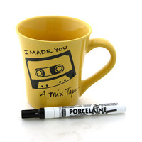 Mix tape DIY Custom Mug  personalized custom gift by LennyMud