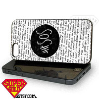 SOS Quote Design - iPhone 4/4s/5 Case - Samsung Galaxy S3/S4 Case - Black or White