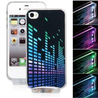 SimplePower NEW Sense Flash Light Case Cover for Iphone 4/4s 4g LED LCD Color Changed:Amazon:Cell Phones & Accessories