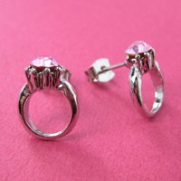 ONE DOLLAR SALE - Diamond Ring with Rhinestone Detail