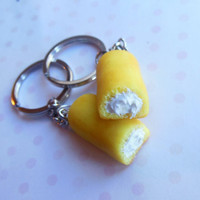 polymer clay twinkie bff best friend friendship key chains
