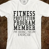 Supermarket: Fitness Protection Member T-Shirt from Glamfoxx Shirts
