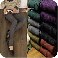 22OW Warm Cotton Opaue Tights Skinny Stretch Leggings Pants HOT