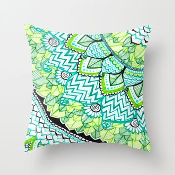 Sharpie Doodle 3 Throw Pillow by Kayla Gordon
