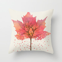 Fall Throw Pillow by Dan Hess