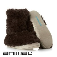 Animal Bollo Slippers - Chocolate Brown