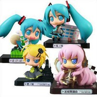 New Vocaloid HATSUNE MIKU Family Figures Luka Rin 4 pcs