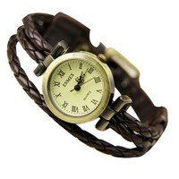 Fashion Leather Twining Watch
