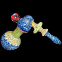 Colored and Fumed Bubbler - Solid Tank Joint Bongs - Glass Bongs - Bongs and Waterpipes - Smoking Pipes - Grasscity.com