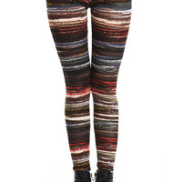ROMWE | ROMWE Color Contrast Skinny Tribal Leggings, The Latest Street Fashion
