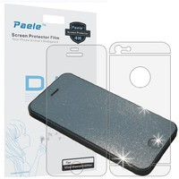 Paele Glitter Silver Diamond Sparkling Screen Protector for Iphone 5 , Front and Back, Back film 3 section type:Amazon:Cell Phones & Accessories