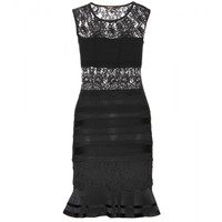 mytheresa.com -  Lace-panelled stretch-knit dress - Luxury Fashion for Women / Designer clothing, shoes, bags