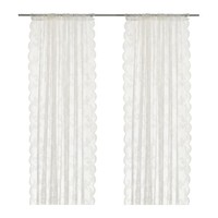 ALVINE SPETS Sheer curtains, 1 pair, off-white - IKEA