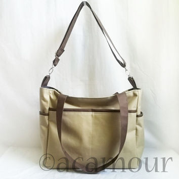 Aries Waterproof Diaper Bag - Waterproof Shoulder Bag with Adjustable Strap - Choose your color
