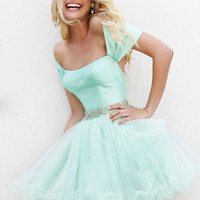 Sherri Hill 21192 - Light Green Sweetheart Short Homecoming Dresses Online