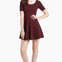 Lush Scoop Back Skater Dress (Juniors) | Nordstrom