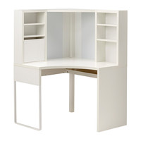 MICKE Corner workstation - white - IKEA