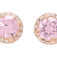 Betsey Johnson Small Encrusted Studs Earrings