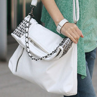 Elegant Fashion Rivet Handbag Shoulder Bag