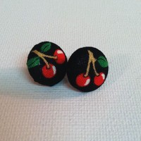 Cherry Earrings from Kute As a Button Shop