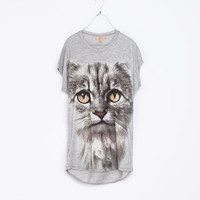 ANIMAL PHOTO PRINT T - SHIRT - T - shirts - TRF | ZARA Spain