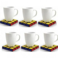 Spinning Hat Rubik's Cube Coasters:Amazon:Home & Kitchen