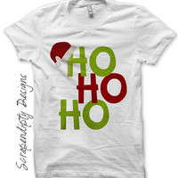 Santa Iron on Transfer - Iron on Ho Ho Ho Shirt PDF / Boy Christmas Shirt / Toddler Santa Clothing / Kids Christmas Clothes / Print IT304-C