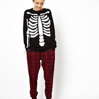 ASOS Sweatshirt with Glow in the Dark Skeleton at asos.com