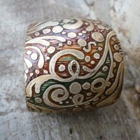 Brass Etched Cuff on Handmade Artists' Shop