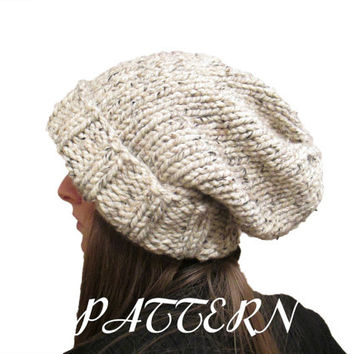 Slouchy Hat Knitting Pattern - Chunky from knittedbyscw