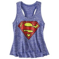 License Juniors Superman Graphic Sweater Tank - Boy Blue