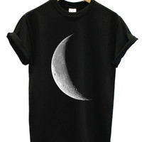 Half moon black t shirt