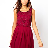 Lipsy | Lipsy Embellished Skater Dress at ASOS