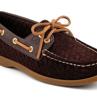 Sperry Top-Sider Women's Authentic Original 2-Eye Woven Suede Boat Shoe
