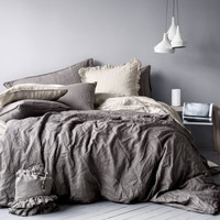 H&M - King/Queen Linen Duvet Set -