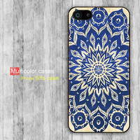 iPhone 5s case iPhone 5 case Blue Mandala print design