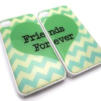 Best Friends iphone 4 Case - Set of Two Friends Forever iPhone 4s Case / Cover:Amazon:Cell Phones & Accessories