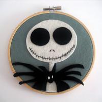 The Nightmare Before Christmas Jack Skellington Embroidery Hoop.