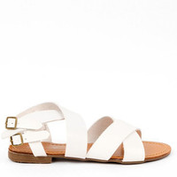 Amber Strappy Sandals in White :: tobi