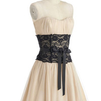 Storied Romance Dress in Champagne | Mod Retro Vintage Dresses | ModCloth.com