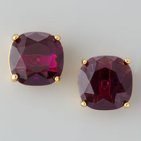 Kate Spade - Small Square Stud Earrings, Amethyst