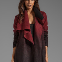 BB Dakota Amber Ombre Fuzzy Melton Coat in Black from REVOLVEclothing.com