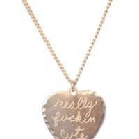 Sweet Nothings Pendant Necklace