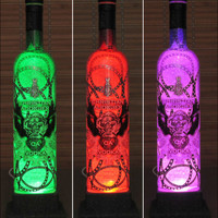 Christian Audigier Vodka Color Changing LED Remote Control Bottle Lamp Party Light  -Bodacious Bottles-