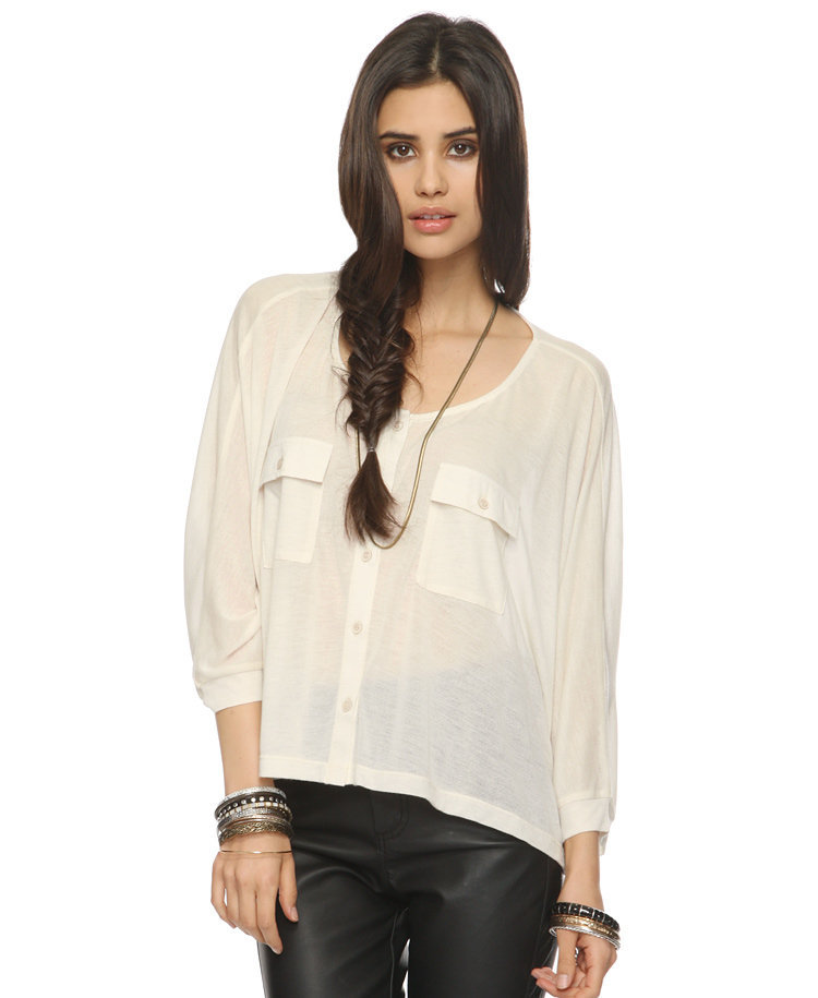 Oversized Knit Shirt | FOREVER21 - 2000042407