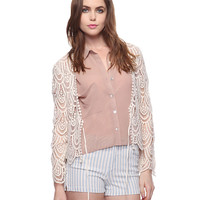 Crochet Lace Cardigan | FOREVER21 - 2000034493