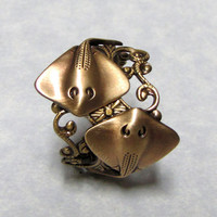 Sting Ray Lover Nautical Ring by ranaway on Etsy