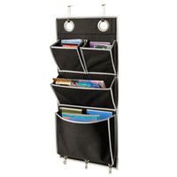 Eyelet Wall or Over the Door Organizer - Black